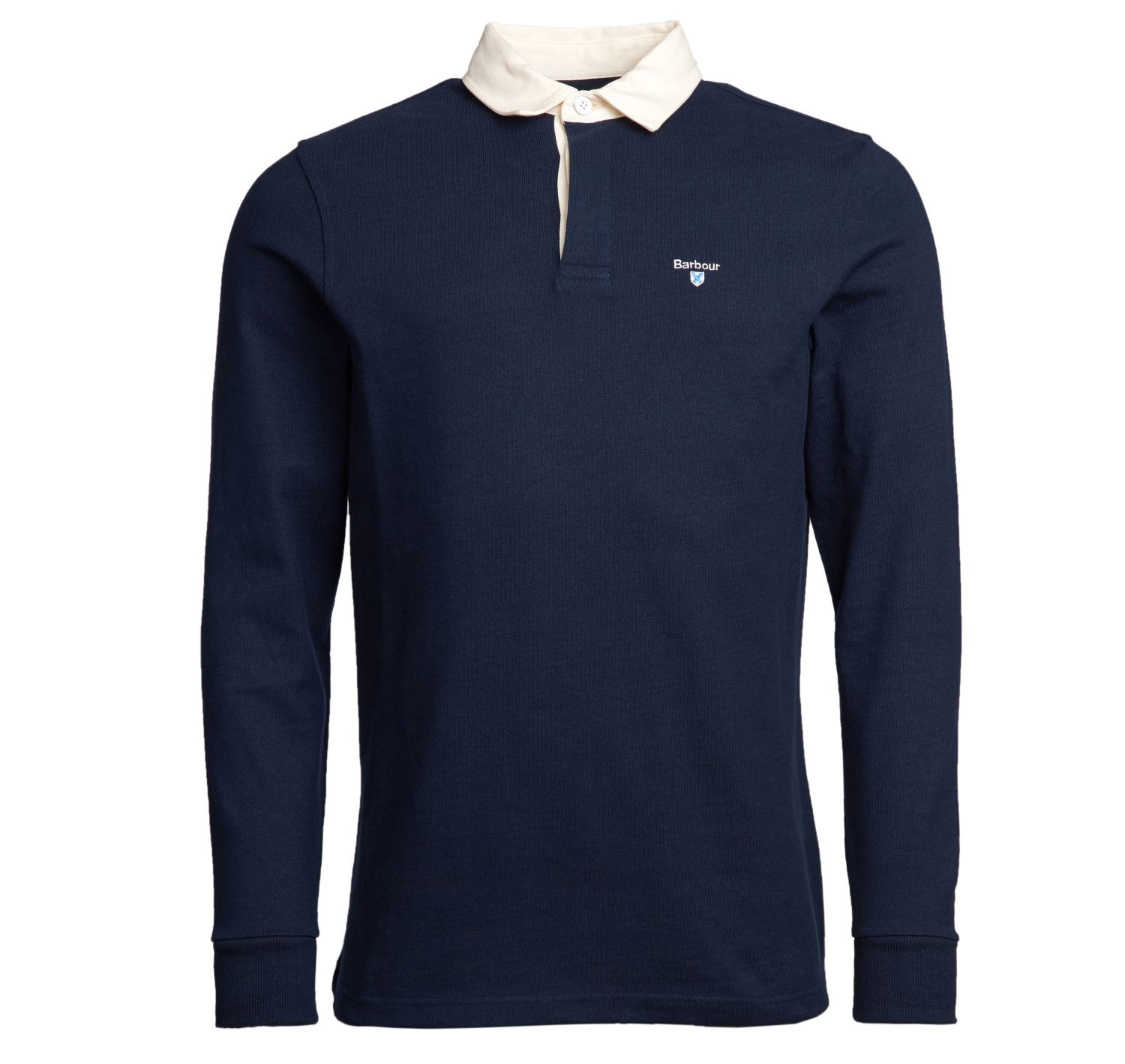 Barbour Shield Rugby Polo Shirt Navy Barbour Lifestyle: from the Classic capsule