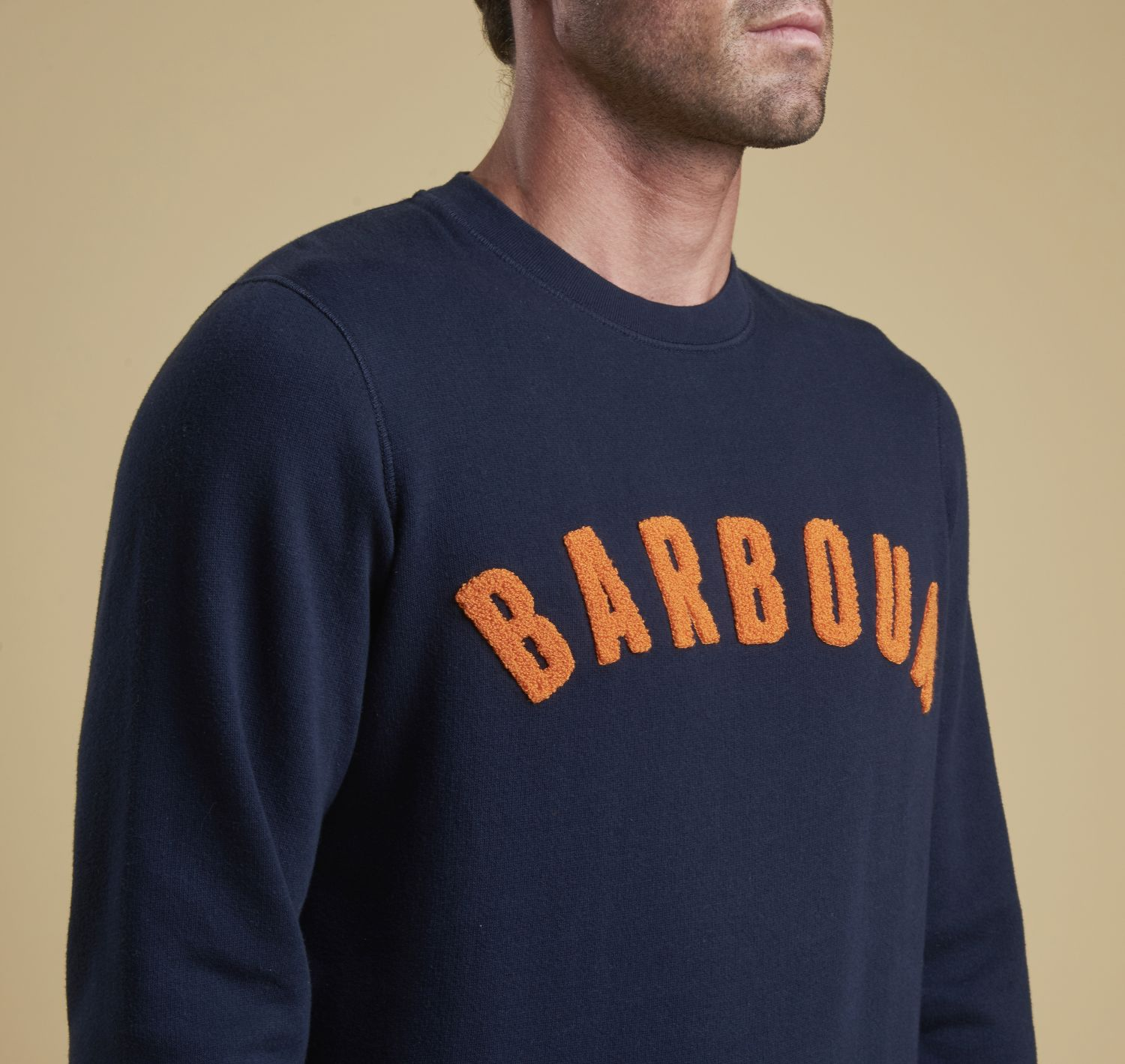 Barbour Prep Logo Crew Neck Sweater Navy