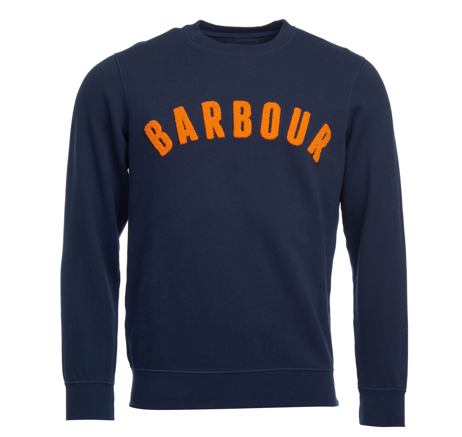 Barbour Prep Logo Crew Neck Sweater Navy Barbour Lifestyle