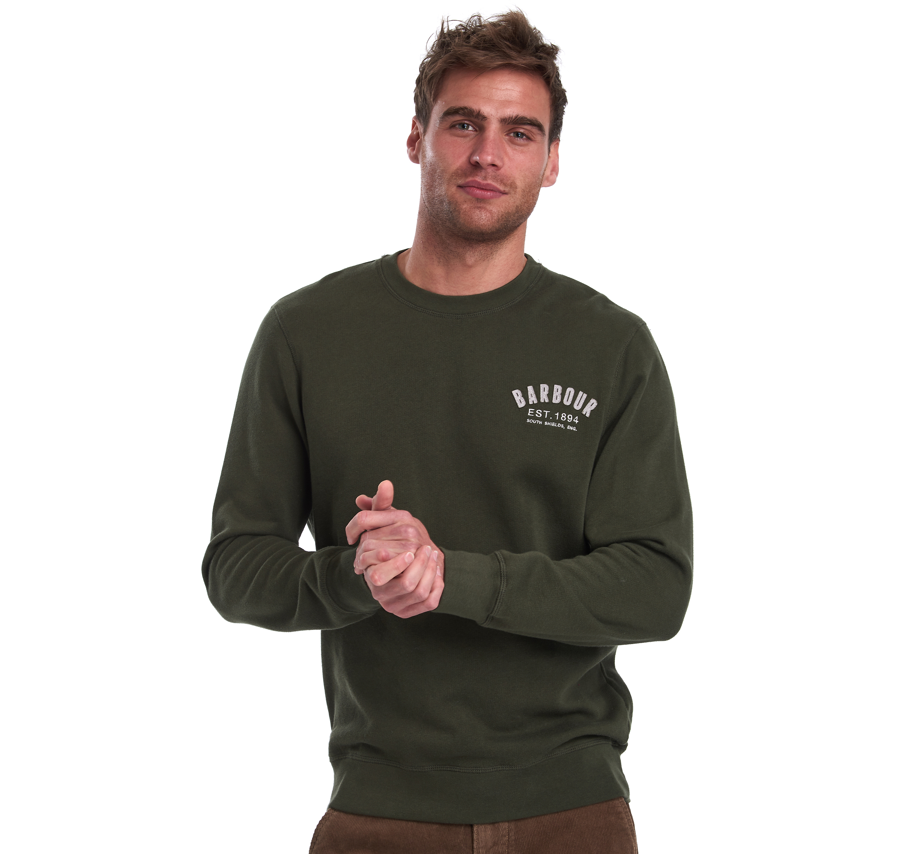 Barbour Preppy Crew Sweater Forest