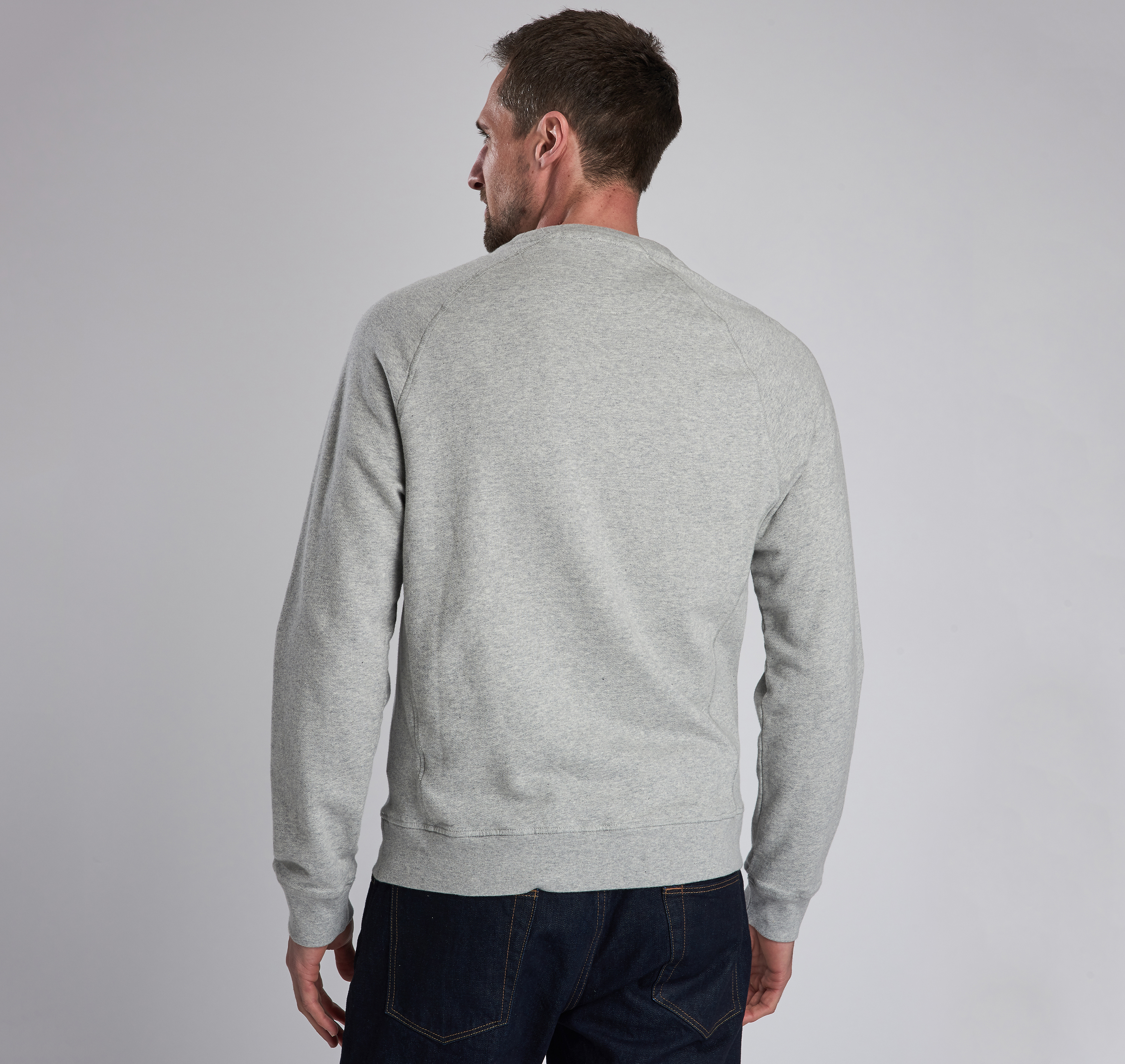 Barbour Raceway Crew Sweater Grey Marl