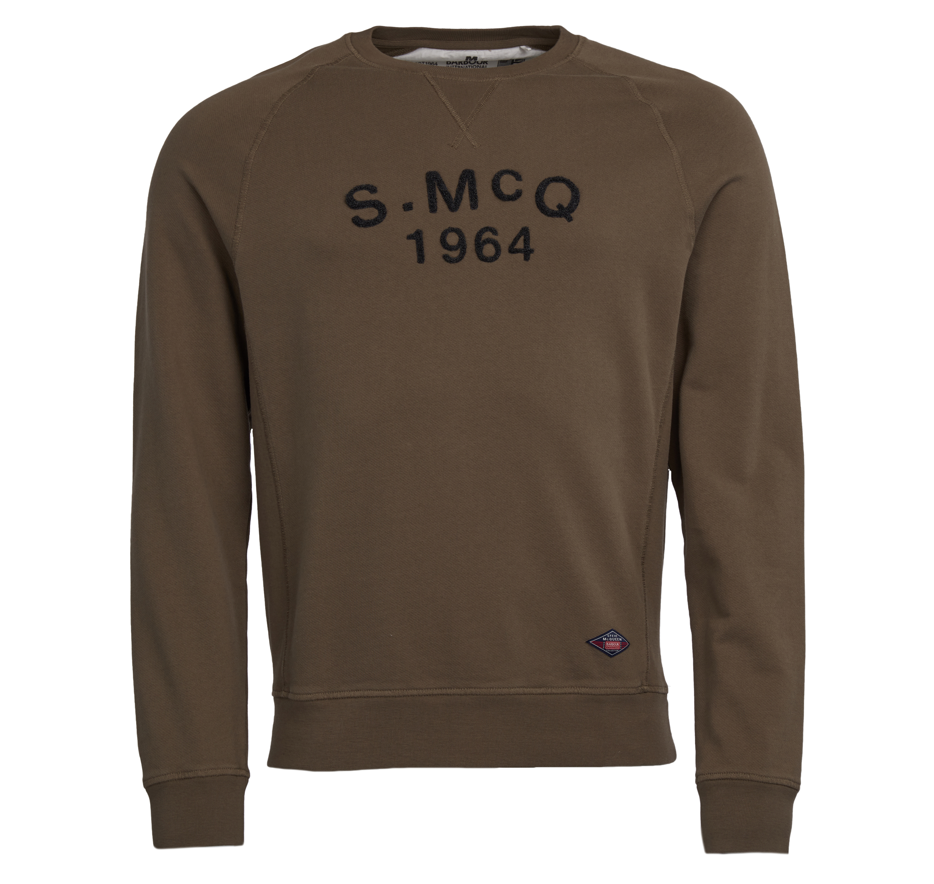 Barbour Barbour Raceway Crew Sweater Olive Barbour International From Steve McQueen Collection
