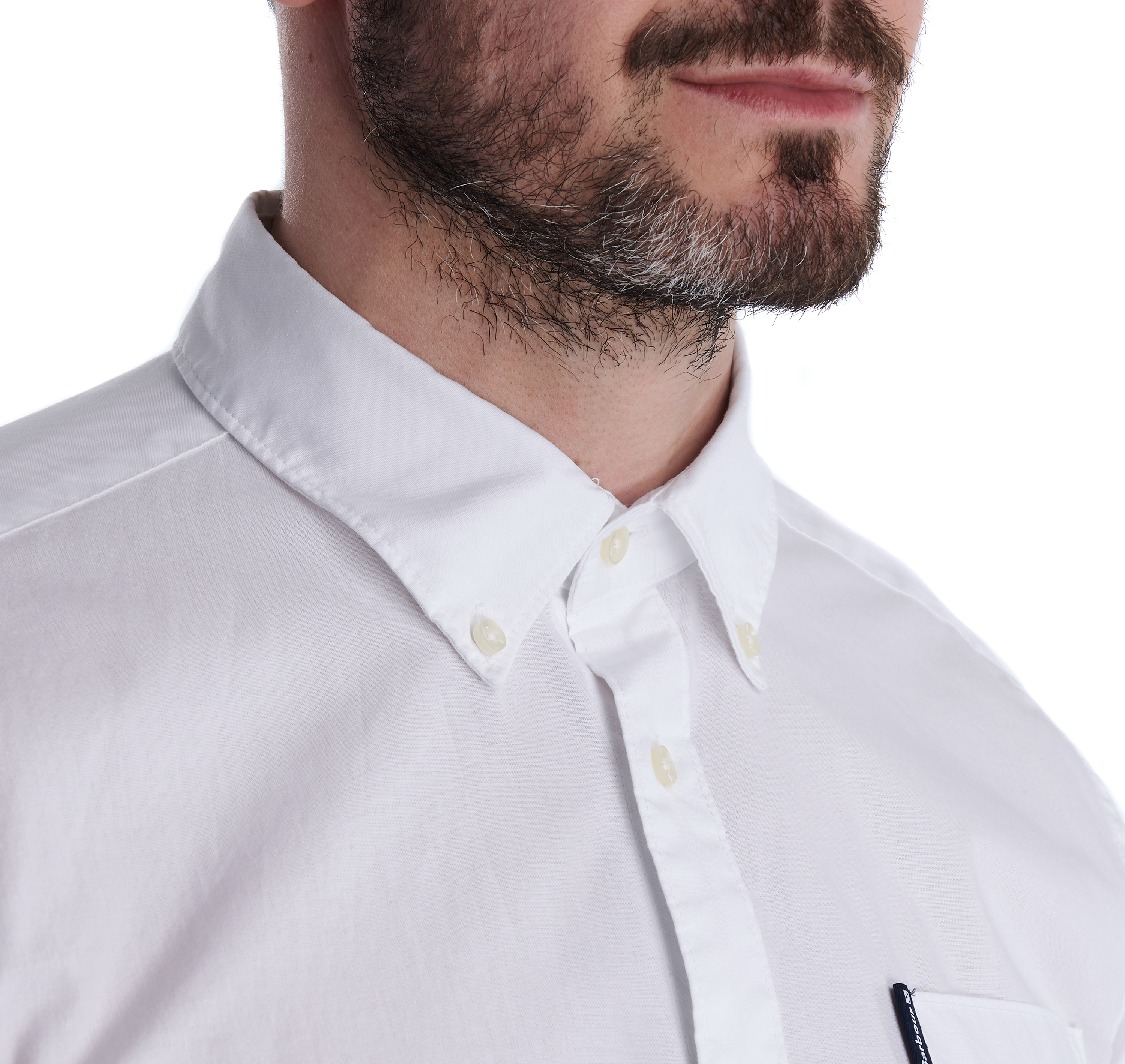 Barbour Stretch Popelin White