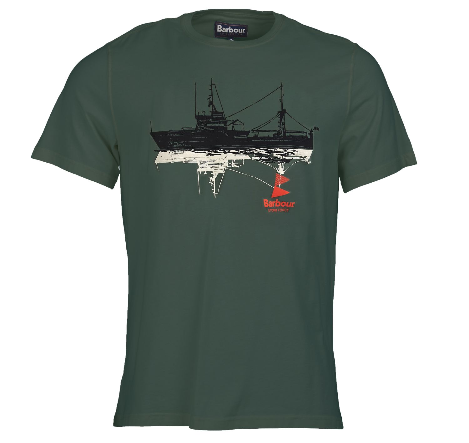 Barbour Lowestoft Tee Green Barbour International