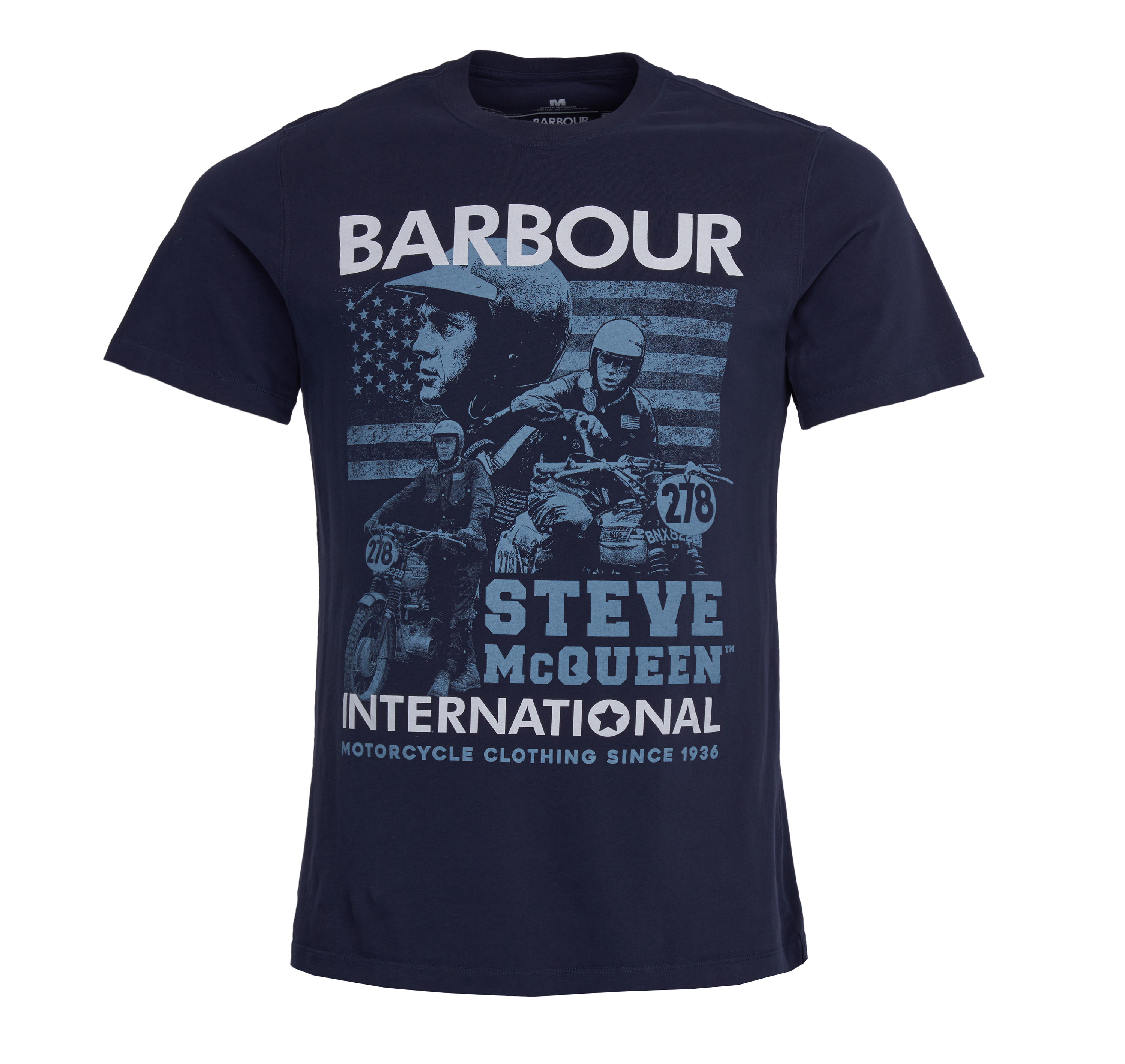 Barbour Collage T-Shirt Barbour International From Steve McQueen Collection