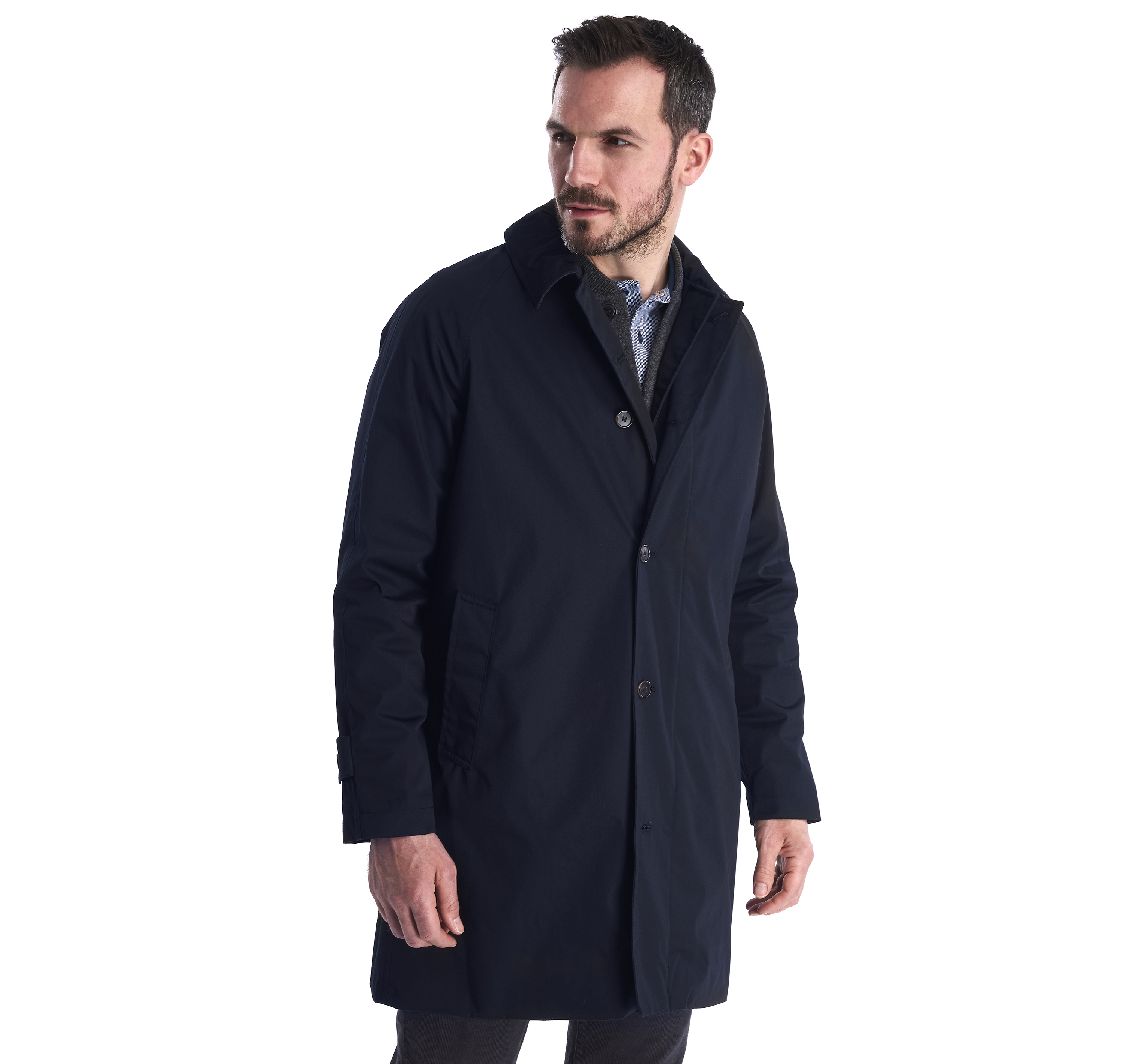 Barbour Maghill Waterproof Breathable Jacket Navy