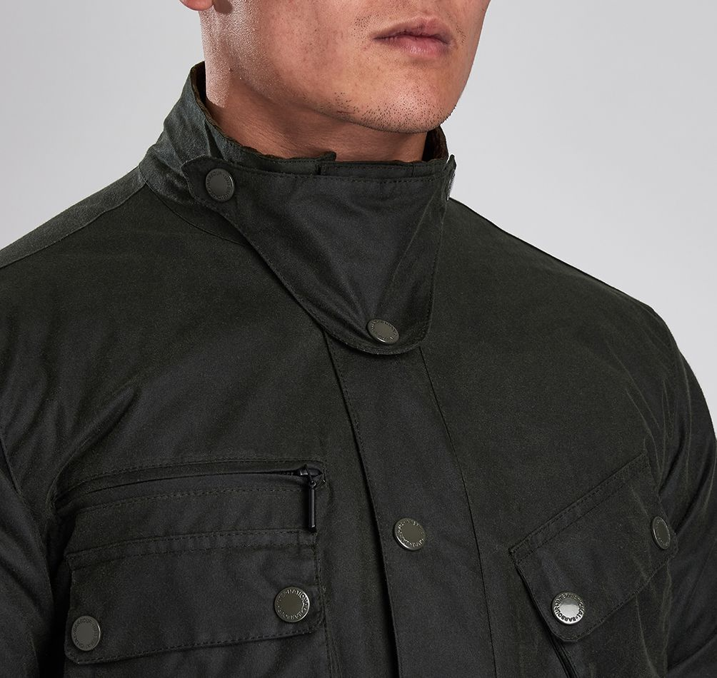 Barbour Intl Nomic Waxed Cotton Jacket