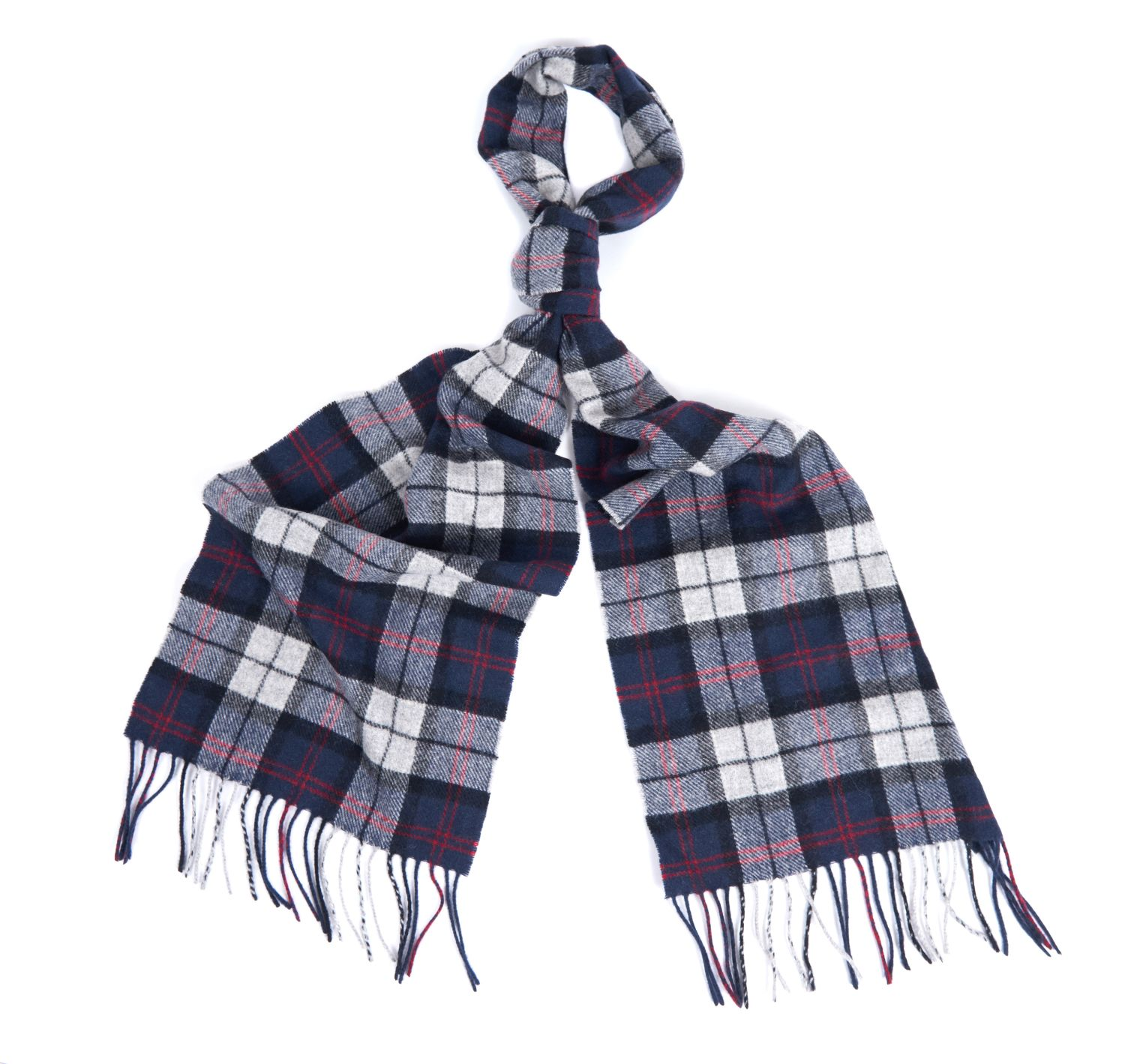 Barbour Barbour Tartan Lambswool Scarf Blue Grey Barbour Lifestyle: from the Classic Tartan capsule
