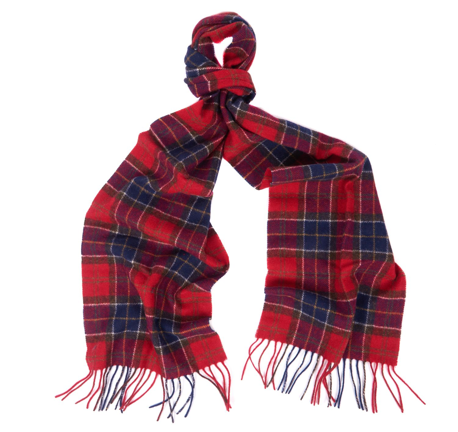 Barbour Barbour Tartan Lambswool Scarf Navy Red Barbour Lifestyle: from the Classic Tartan capsule
