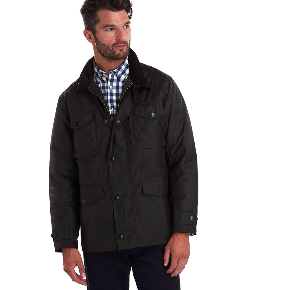 Barbour Sapper Waxed Jacket Olive