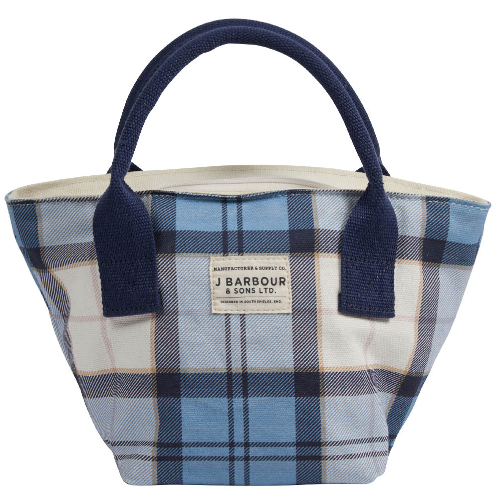 Barbour Leathen Tote Bag Blue Barbour Lifestyle