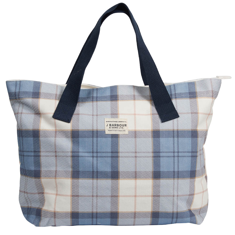 Barbour Printed Shop Bag Blue Barbour Lifestyle