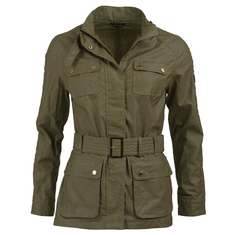 Barbour Intl Bearings Green Slim Fit