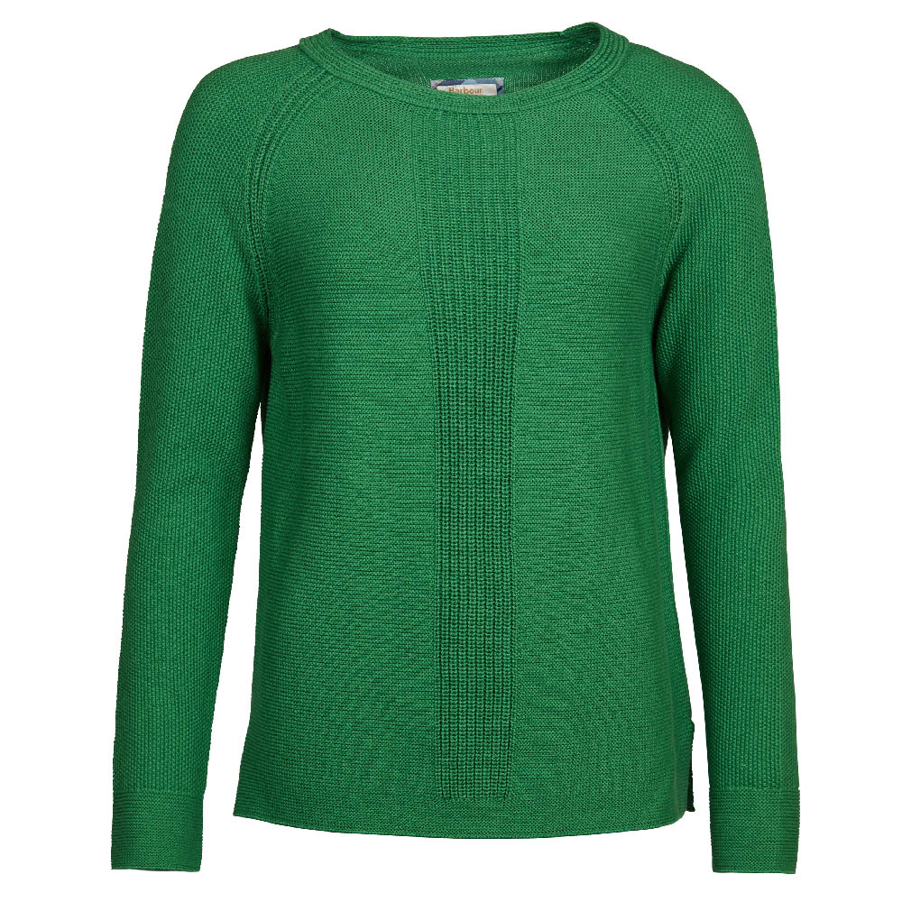 Barbour Carisbrooke Knit Green Relaxed Fit