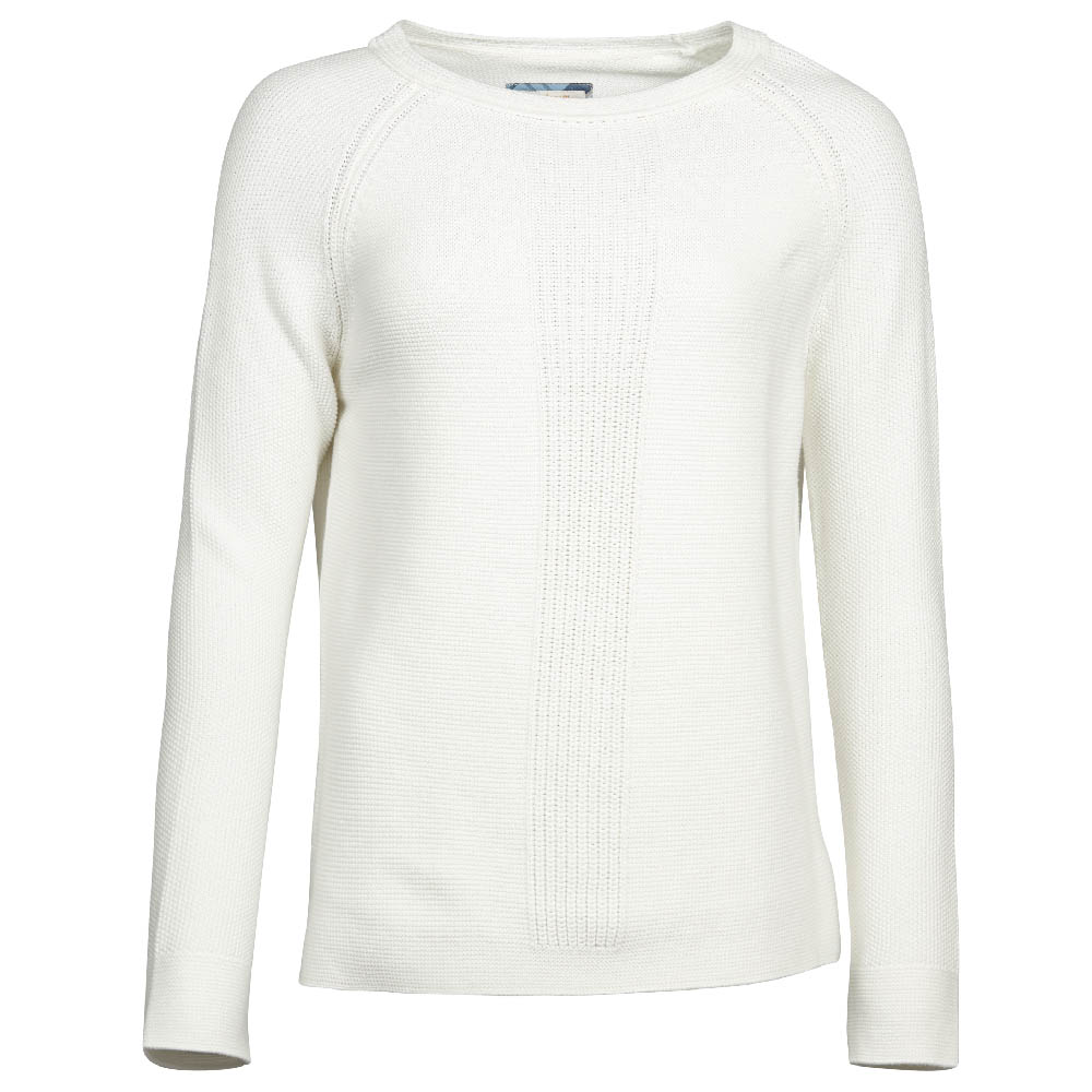 Barbour Barbour Carisbrooke Knit White Relaxed Fit