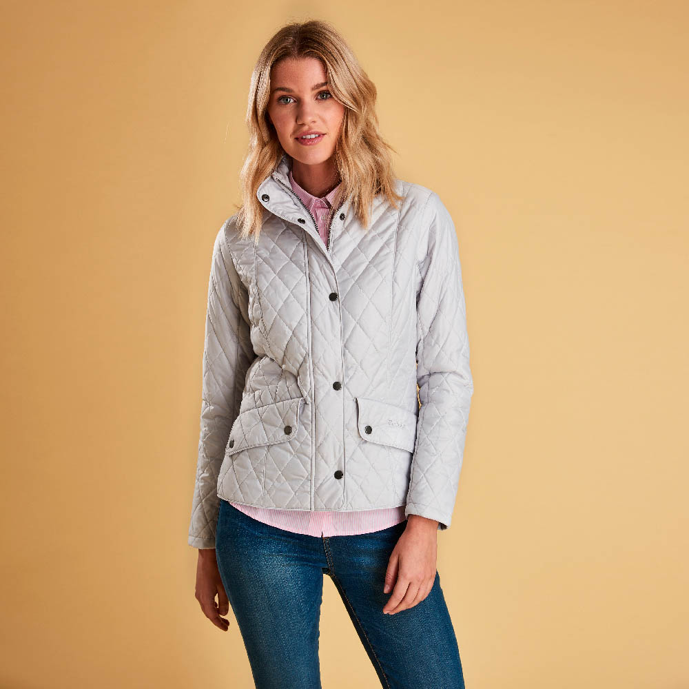 Barbour Flyweight Cavalry Quilted Jacket Ice