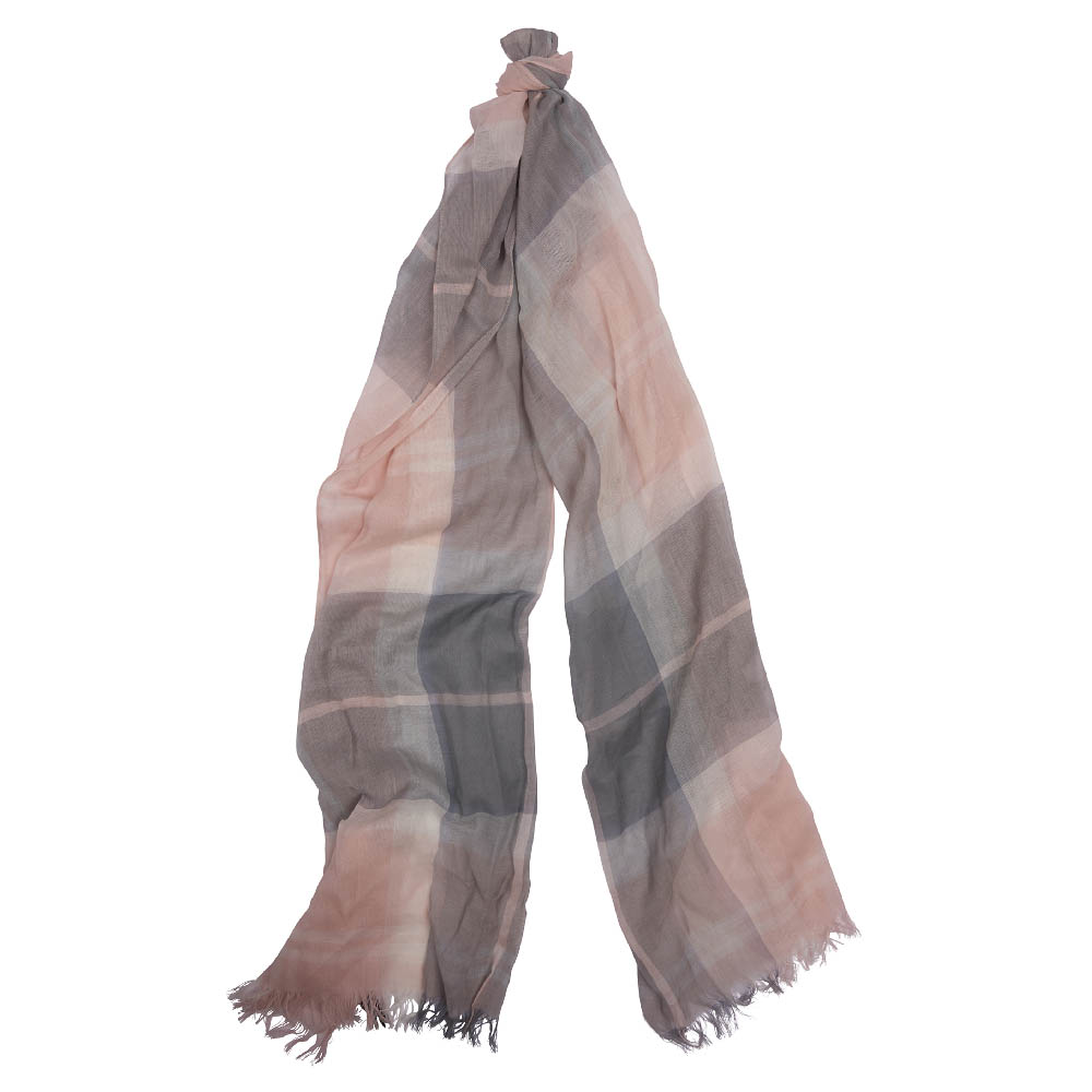 Barbour Shield Tartan Scarf Blue Pink Barbour Lifestyle: From the Summer Dress Tartan collection