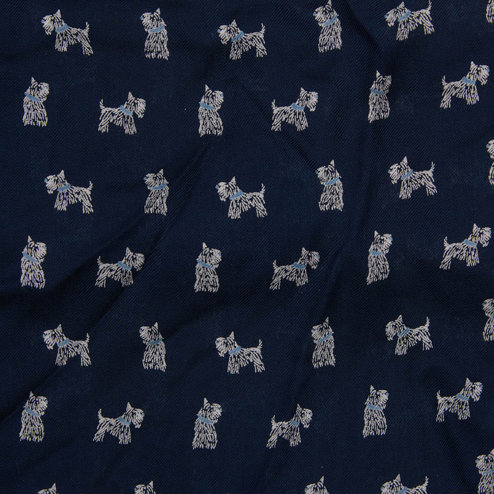 Barbour Dog Print Scarf Navy