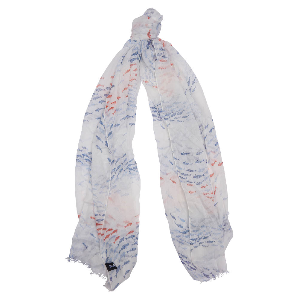 Barbour Shoaling Fish Print Scarf Barbour Lifestyle