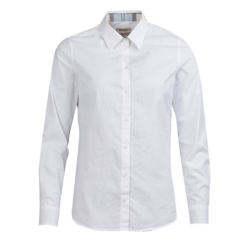 Barbour Portsdown Shirt White Regular Fit