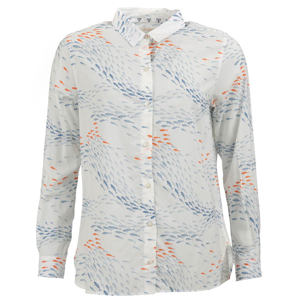 Barbour Pebbles Shirt Off White Slim Fit