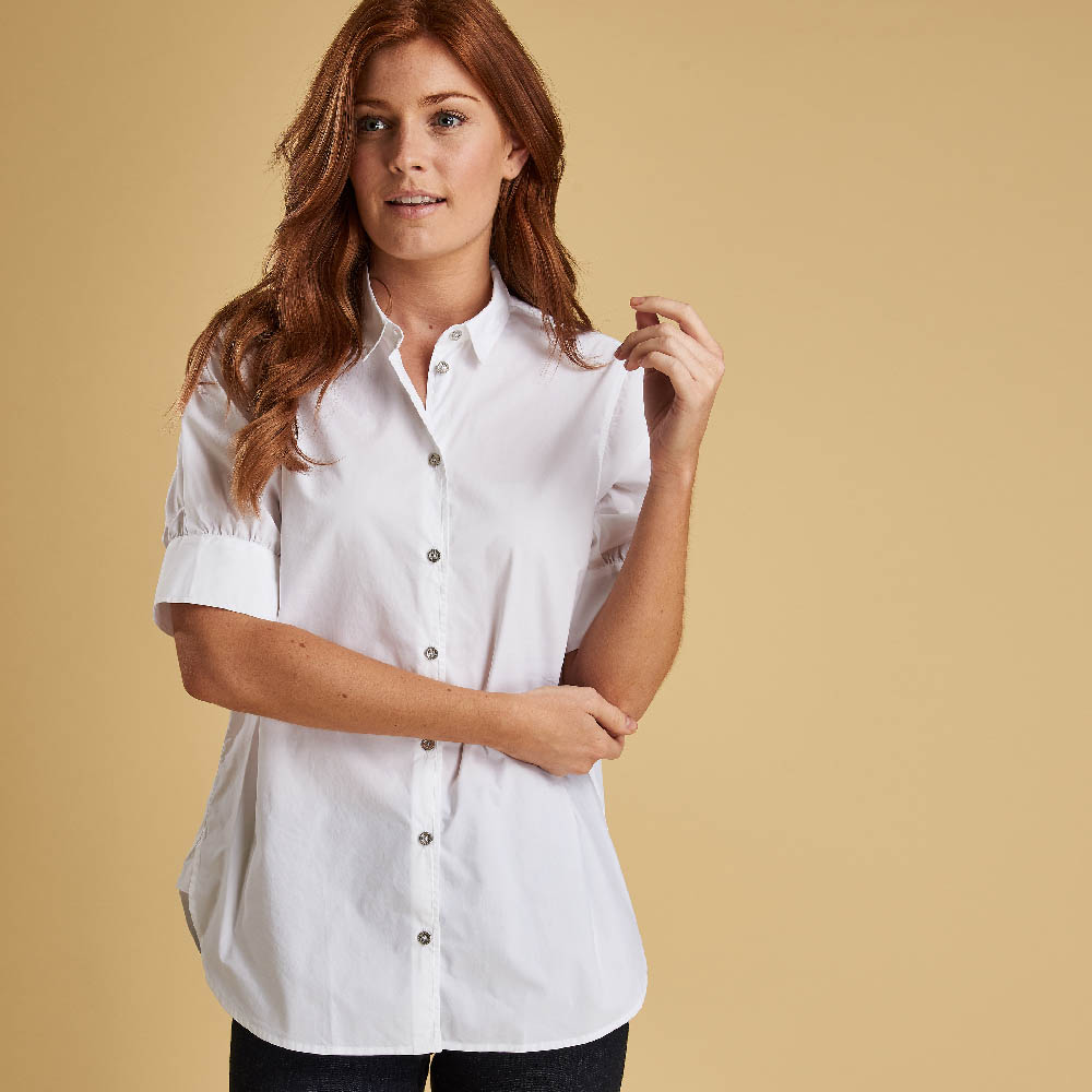 Barbour Islay Shirt White Regular Fit