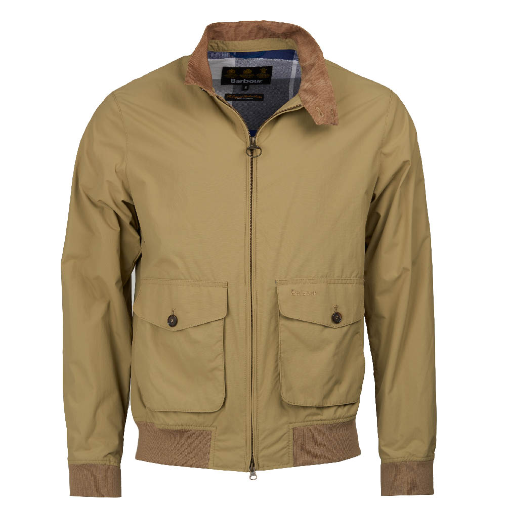 Barbour Maree Lightweight Harrington Jacket Sandstone