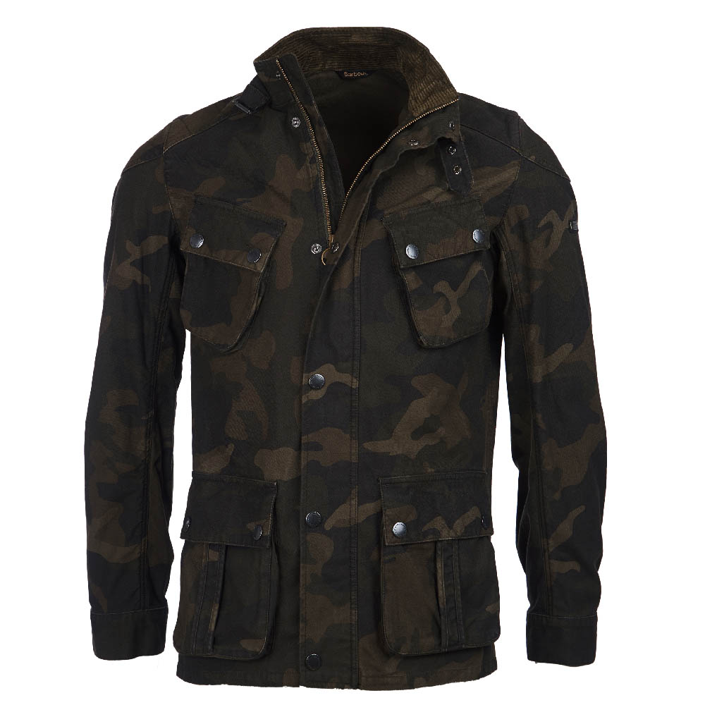 B.Intl Washed Camo Casual Jacket Camo FIT: Tailored
