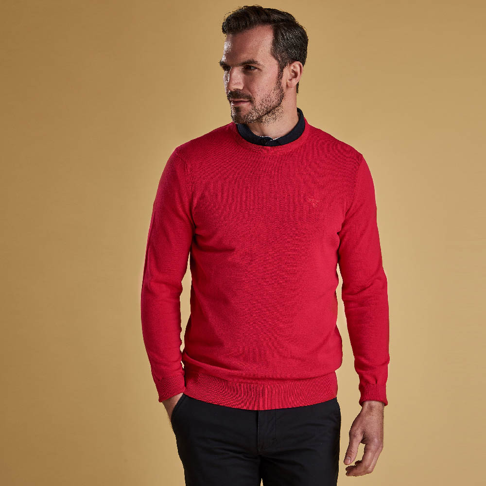 Barbour Light Cotton Crew Neck Sweater Sorbet