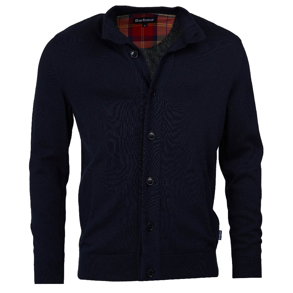 Barbour Huntly Button Through Sweater Navy