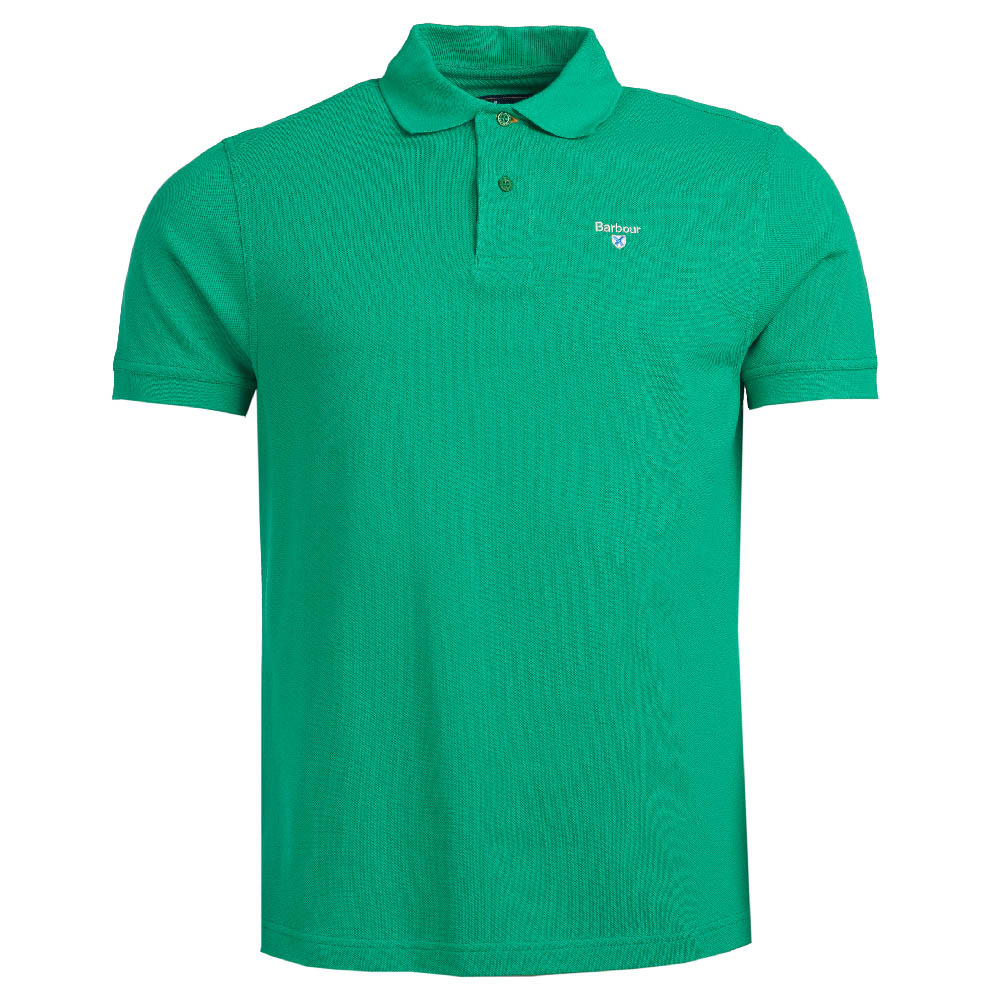 Barbour Sports Polo Shirt Bright Green Barbour Lifestyle: From the Core Essentials capsule