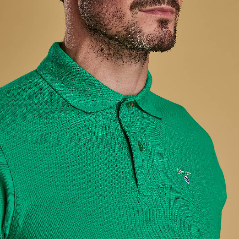 Barbour Sports Polo Shirt Bright Green