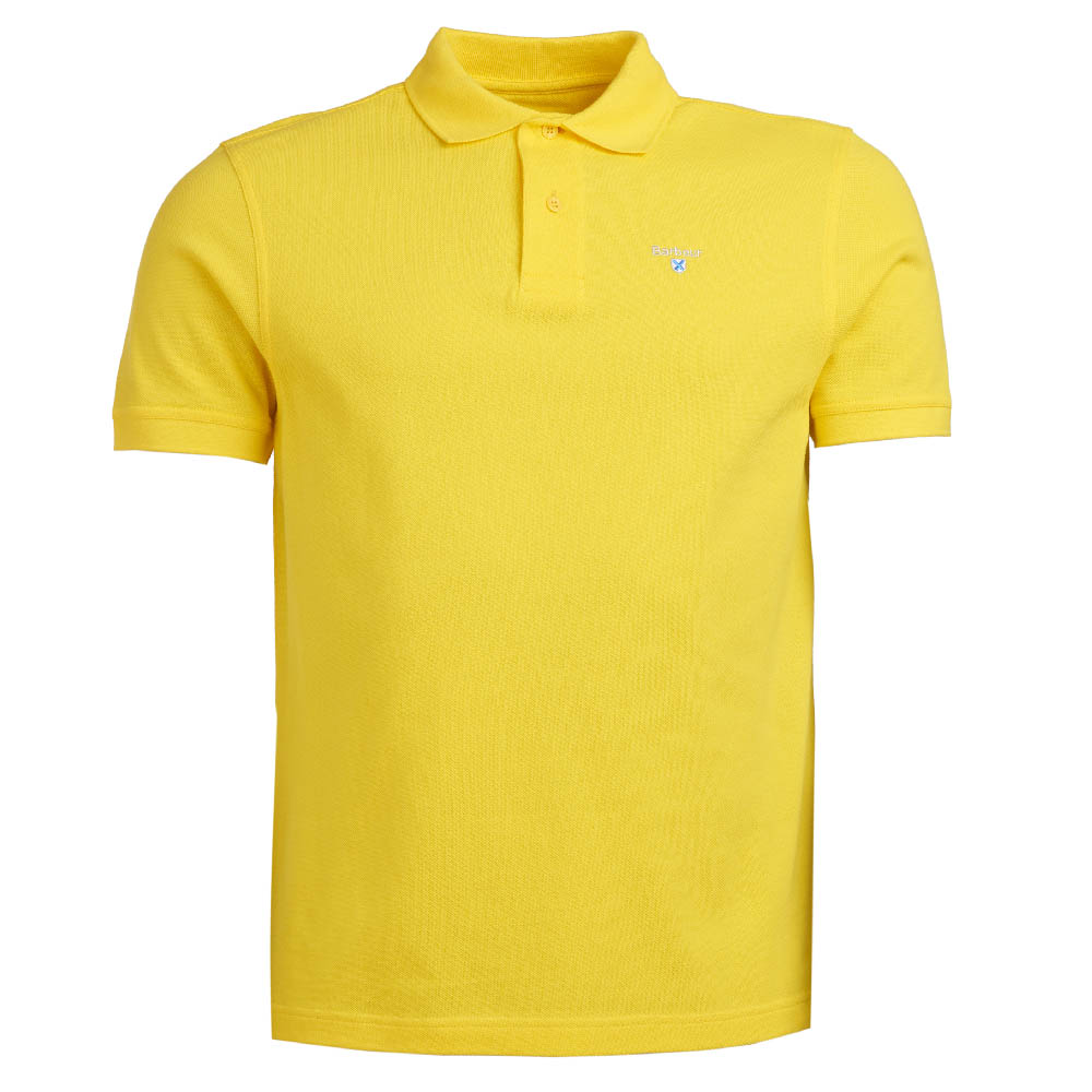 Barbour Sports Polo Shirt Yellow Barbour Lifestyle: From the Core Essentials capsule