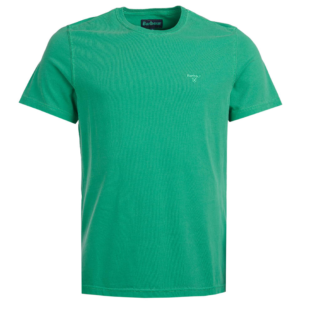Barbour Garment Dyed T-Shirt Bright Green Barbour Lifestyle: From the Core Essentials collection
