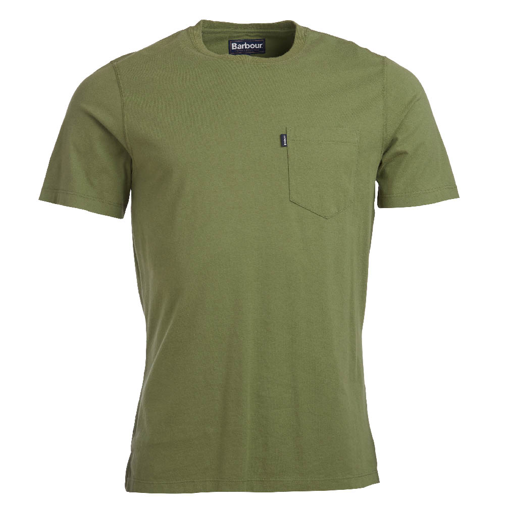 Barbour ssential Pocket T-shirt Olive Camiseta Básica Barbour