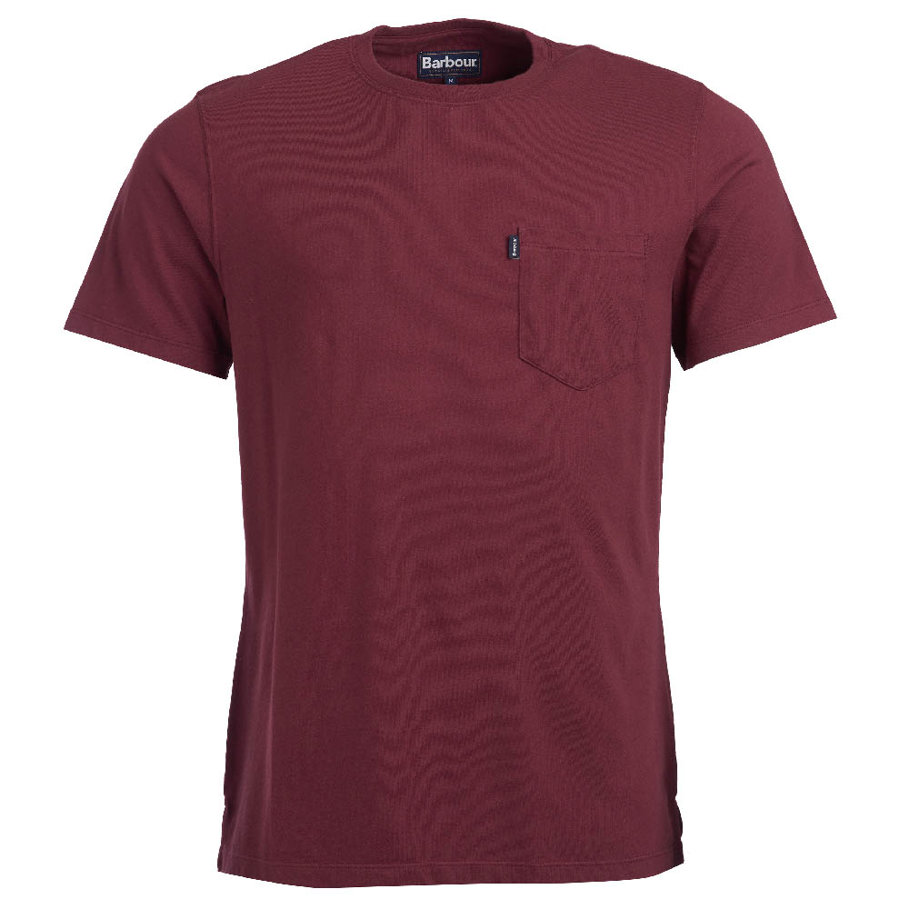 Barbour Essential Pocket T-shirt Ruby Camiseta Básica Barbour