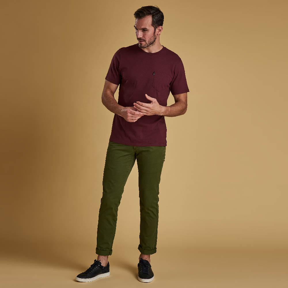 Barbour Essential Pocket T-shirt Ruby