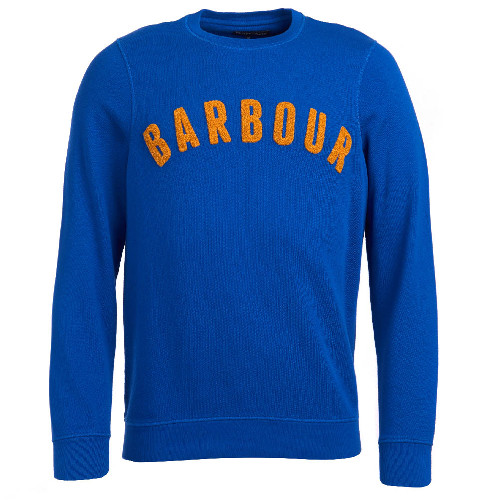 Barbour Prep Logo Crew Neck Sweater Bright Blue