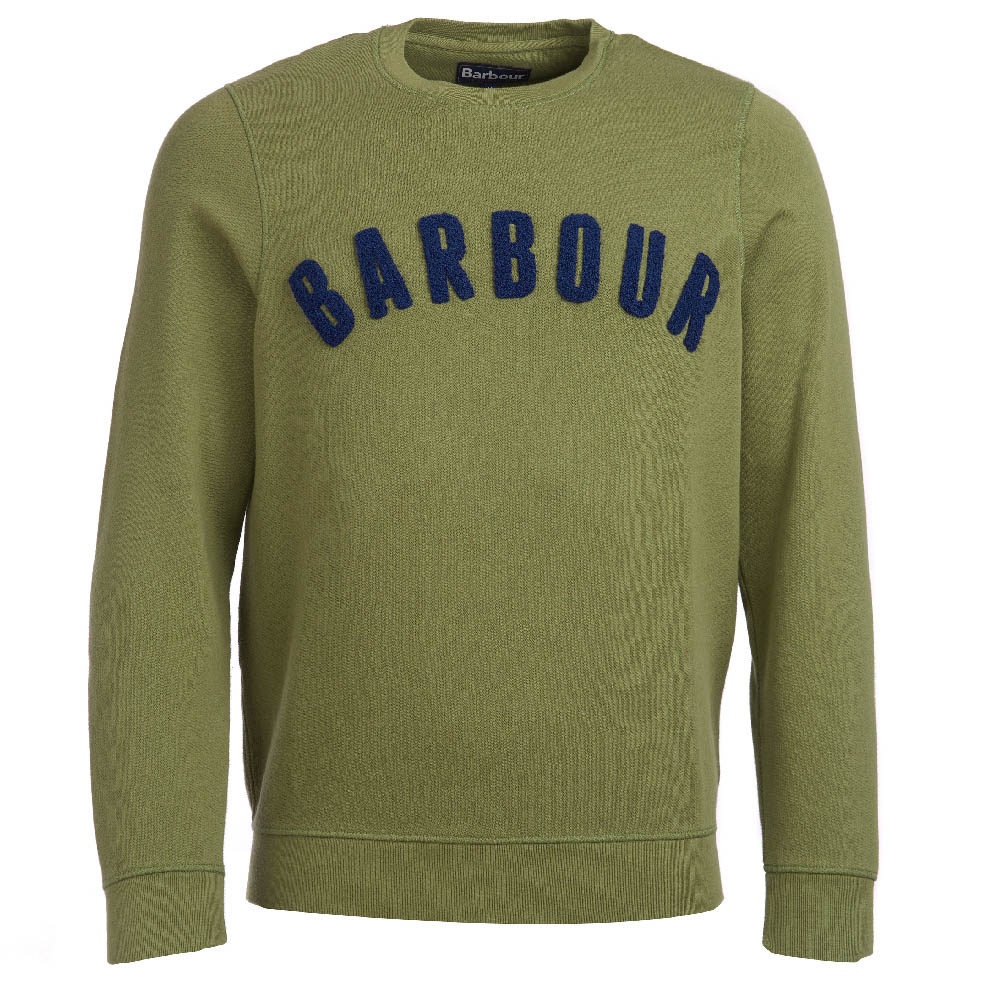 Barbour Prep Logo Crew Neck Sweater Olive