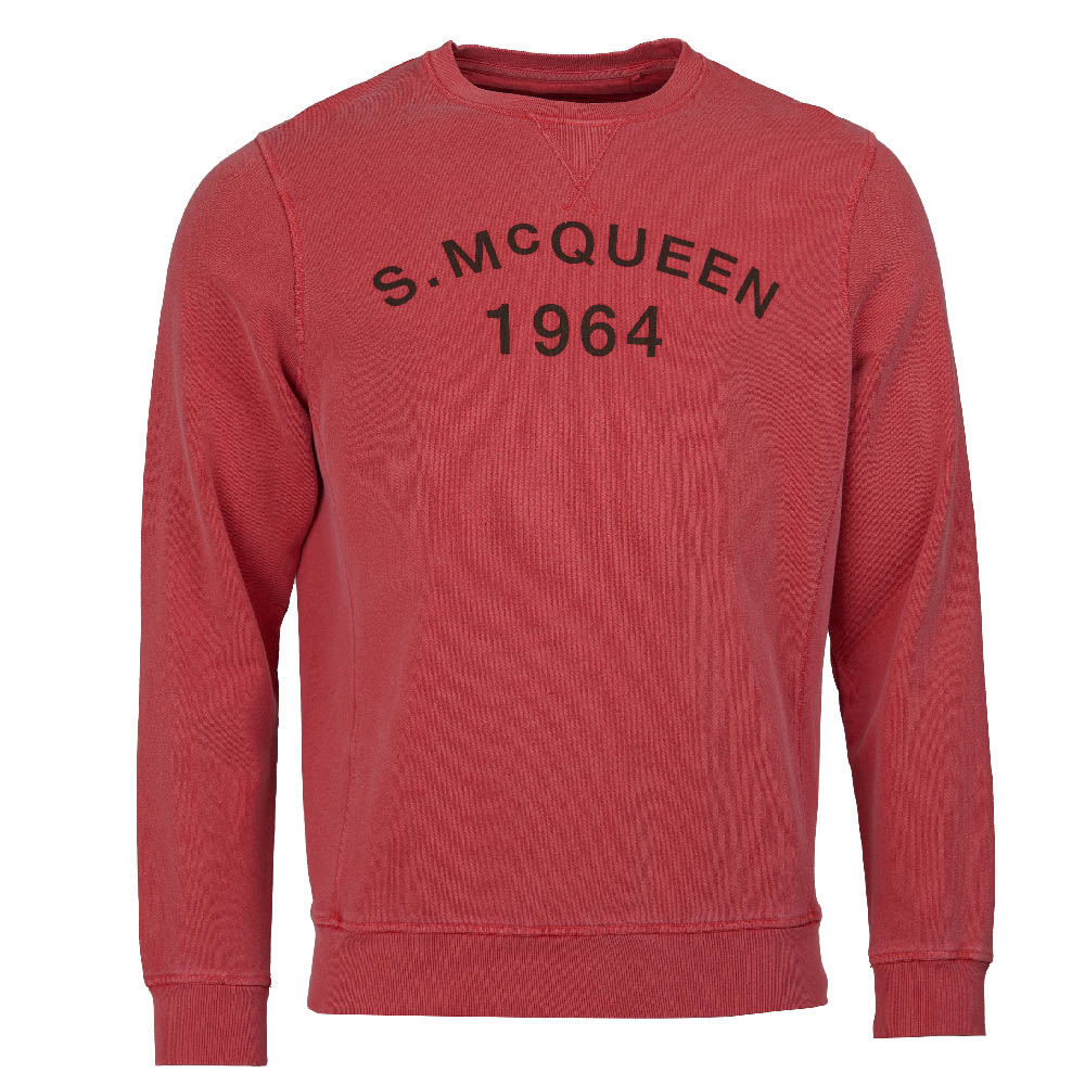 Steve McQueen Vintage Crew Neck Sweatshirt Red FIT: Slim