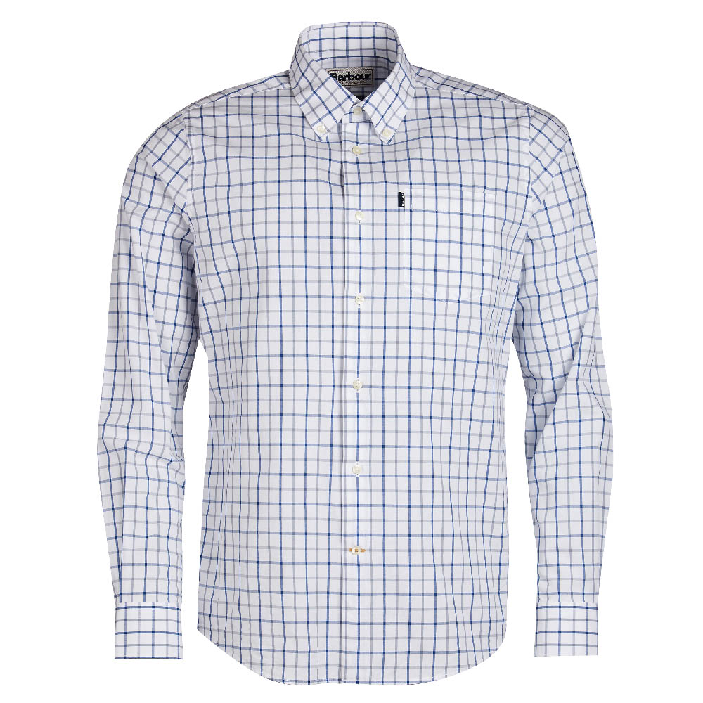 Barbour Tattersall 4 Tailored Fit Shirt Blue FIT: Tailored