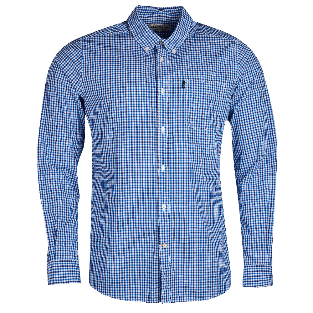 Barbour Gingham 1 Blue Tailored Fit
