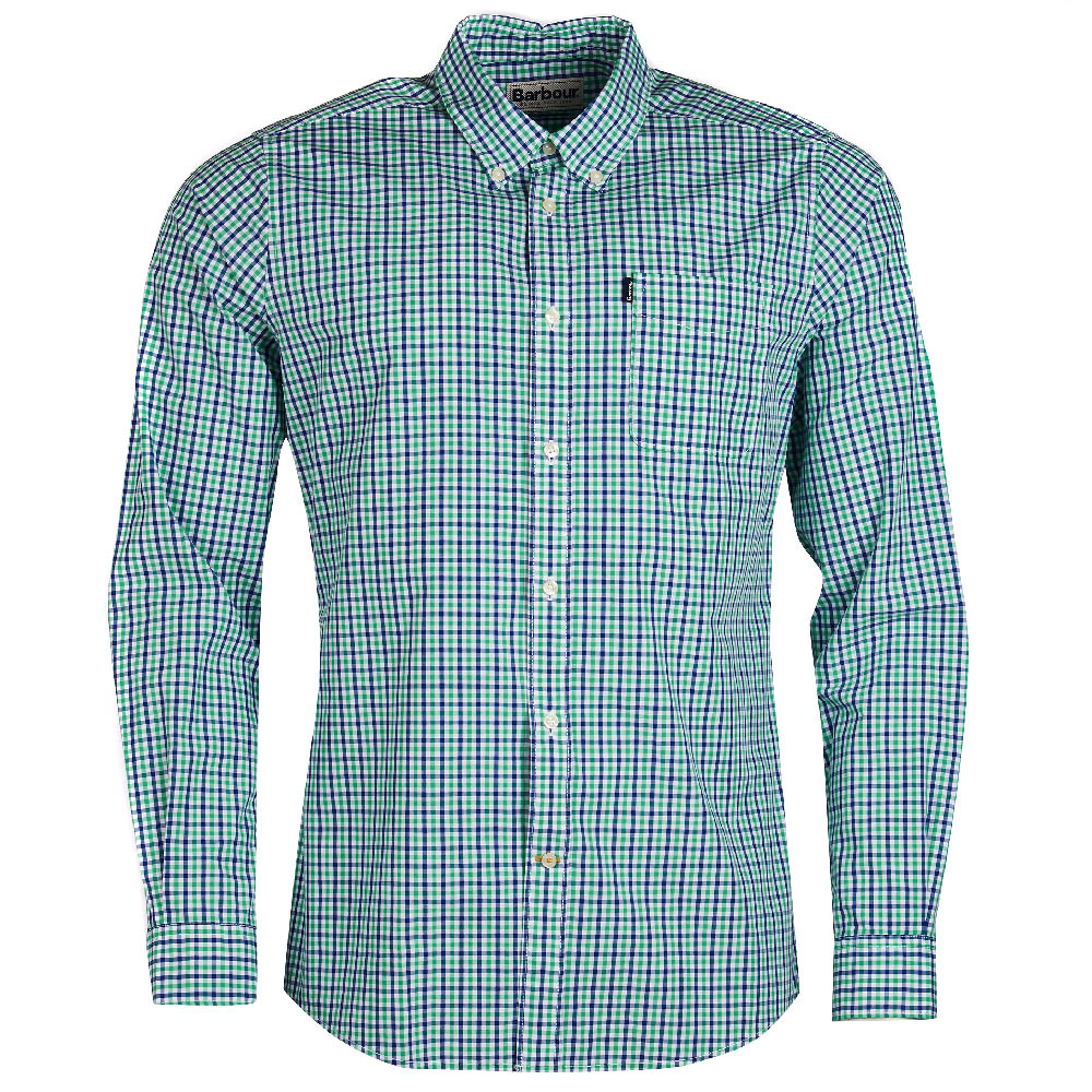 Barbour Gingham 1 Green Tailored Fit