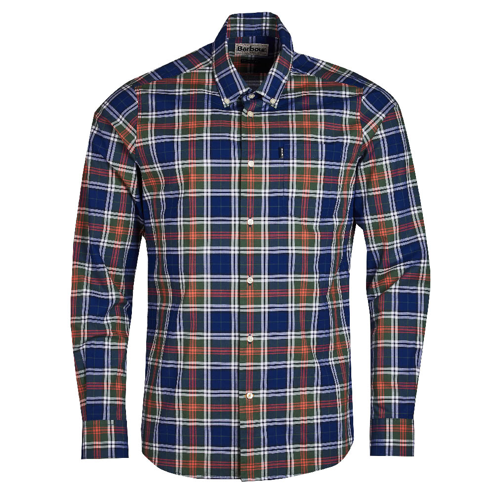 Barbour Highland Inky blue Tailored Fit