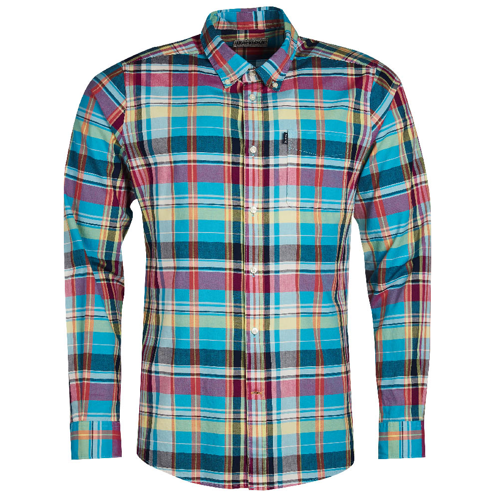 Barbour Madras Aqua Tailored Fit