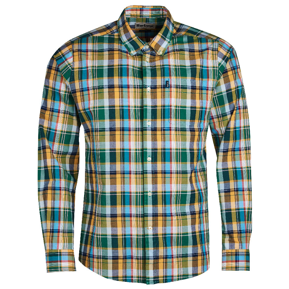 Barbour Madras Green Tailored Fit