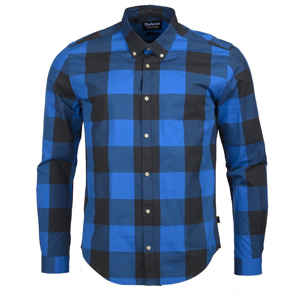 B.Intl Bold Gingham Slim Fit Shirt Charcoal FIT: Slim