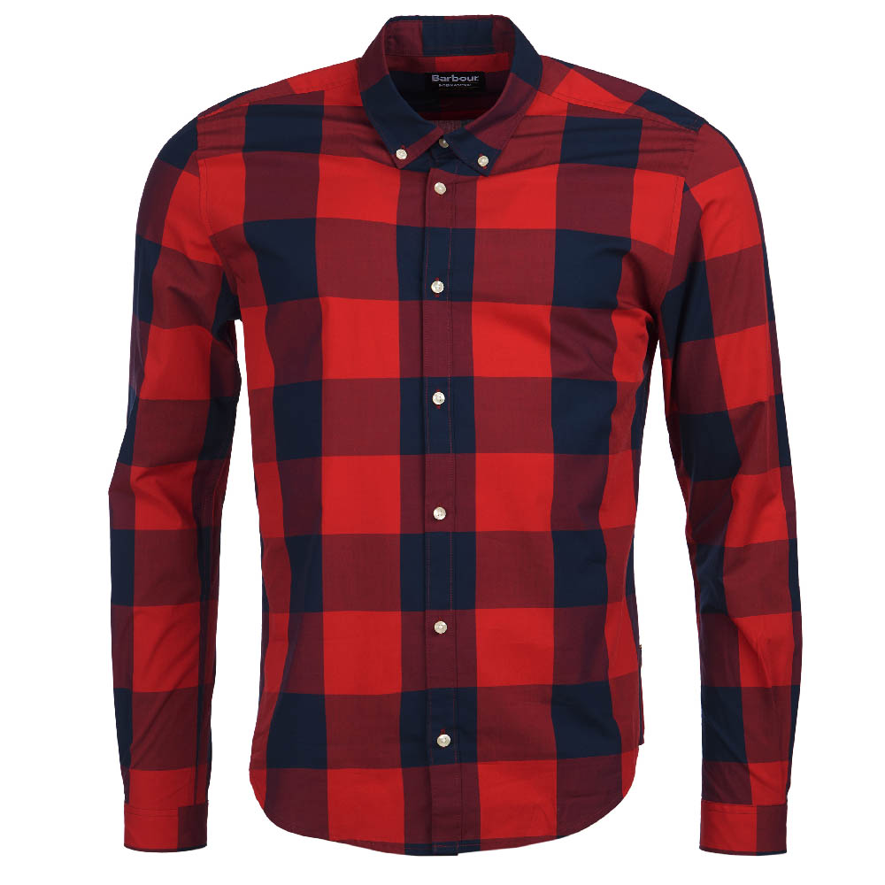 Barbour B.Intl Bold Gingham Slim Fit Shirt Red FIT: Slim