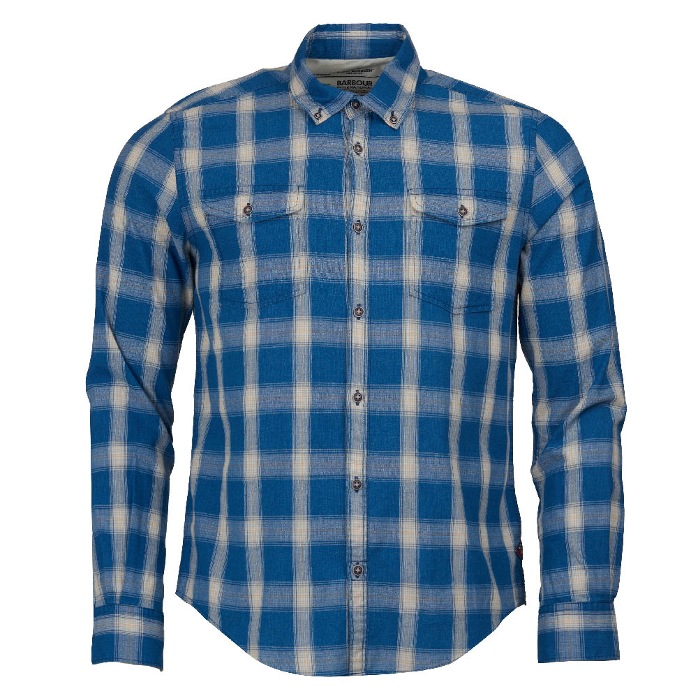 Steve McQueen Holman Check Sliim Fit Shirt Indigo FIT: Slim