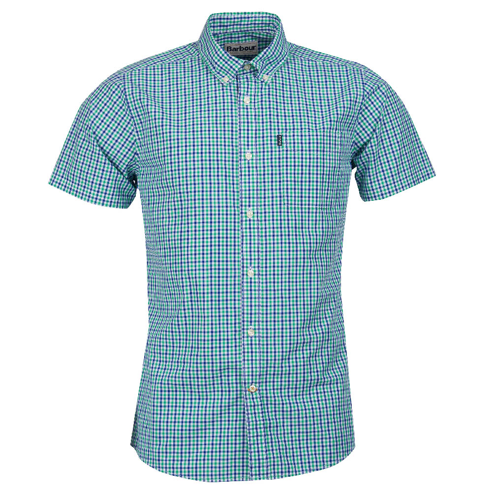 Barbour Gingham 1 Tailored Fit Shirt Green FIT: Tailored